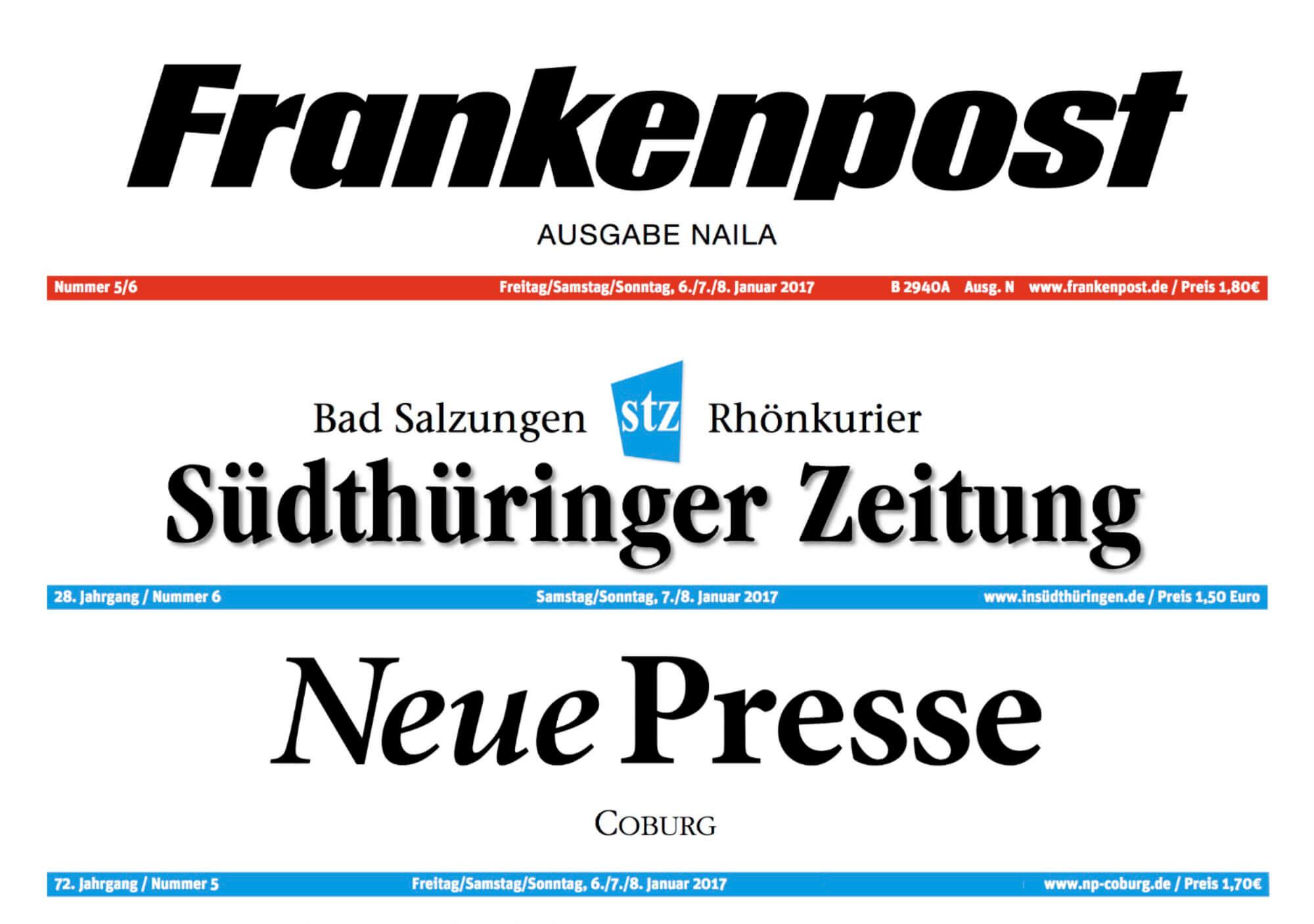 Frankenpost Südthüringer Zeitung Neue Presse Coburg