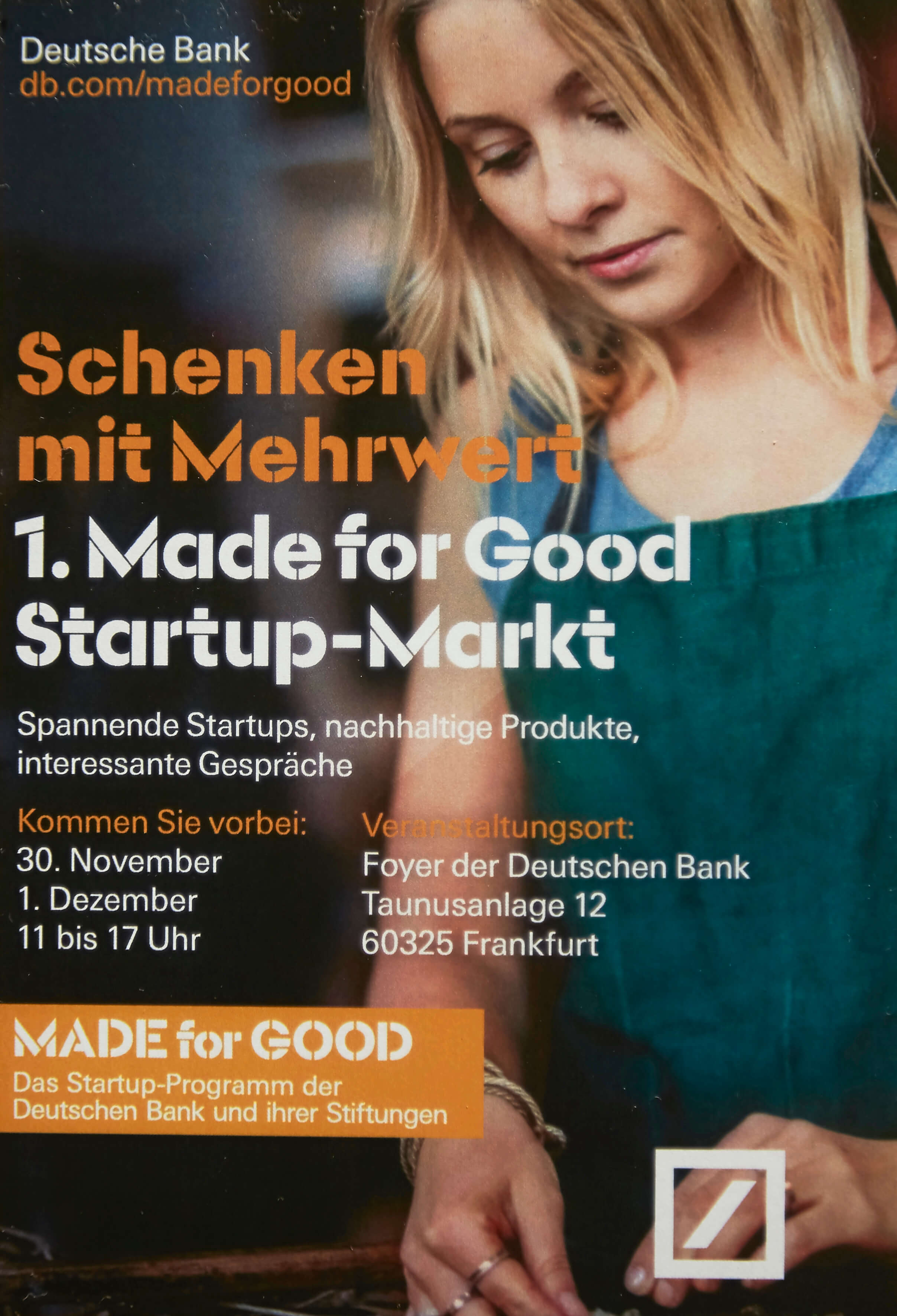 Deutsche Bank Made for Good Dezember 2016